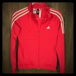 Adidas Vintage Style Women's Red Zip Jacket Sz S